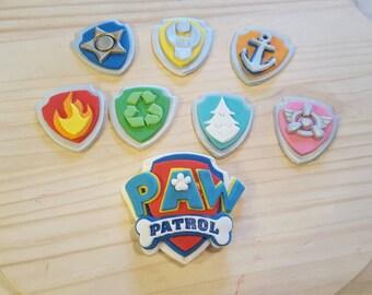 Fondant Paw Patrol Logo and Badges
