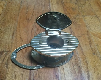 Mid Century Brass Peephole with Door Knocker