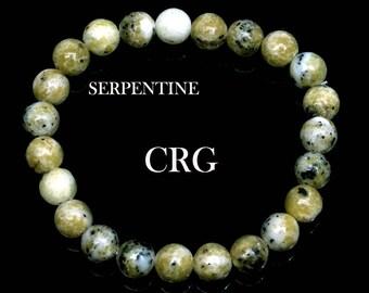 SELECT Round 6-7mm SERPENTINE Beads Stretch Bracelet (BR84DG)