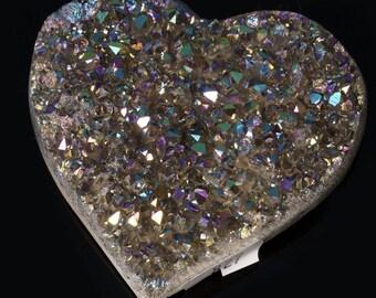 Titanium Aura Quartz Crystal Heart 5.3 oz. A-827