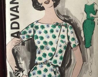 Gorgeous Vintage Sheath Dress and Jacket Pattern---Advance 2790---Size 10  Bust 31  UNCUT