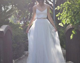 tulle wedding dress,bohemian wedding dress, boho wedding dress, beach wedding dress, Lace wedding dress, wedding dress tulle , thebride2b
