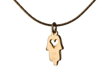 Hamsa Heart Necklace Dainty Gold Filled Necklace Pendant Evil Eye Jewelry Free UK delivery + Gift Box + Gift Bag GP2
