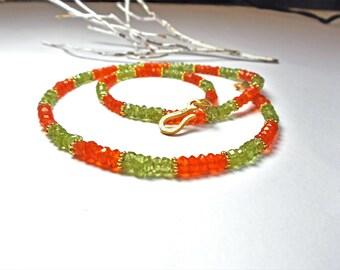 Carnelian Peridot necklace