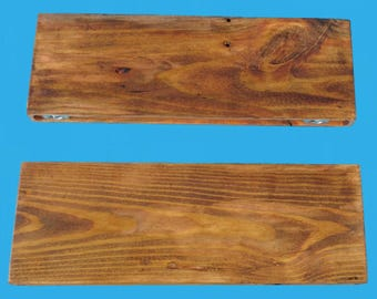 "yellow pine wood floating shelf 20"" by 7"" by 1-1/2"" col. pine stain distressed-621-20"
