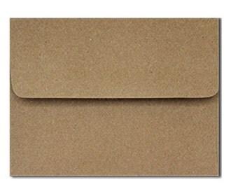 20 Kraft Brown Bag Envelopes in A7, A6, A2 & A1 Sizes