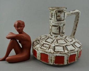 Vintage vase made by Schlossberg / 280 15 | West German Pottery | 60s