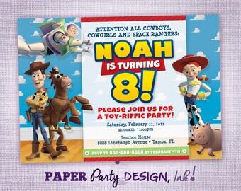 Toy Story Birthday Party Invitation, Toy Story Party Invitation, Toy Story Digital Invitation, Toy Story Printable Invitation