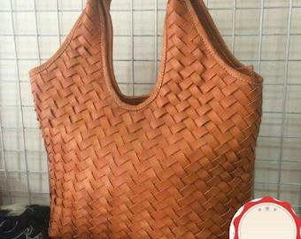 Full Woven hobo leather bag