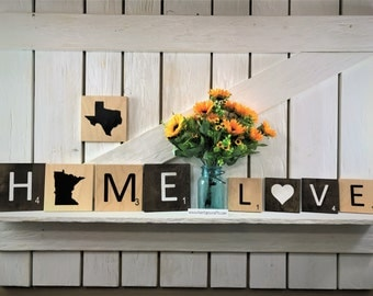Large scrabble tile letters!  Free shipping on orders of 5 or more!
