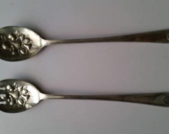 Sheffield Silver Salad Servers