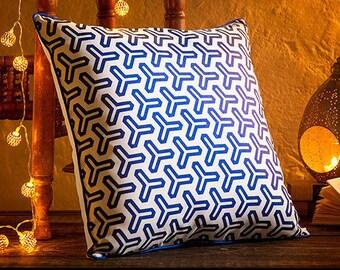 Blue & White Design Cushion