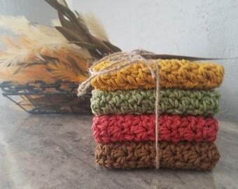 Cotton Crocheted Dishcloth Set