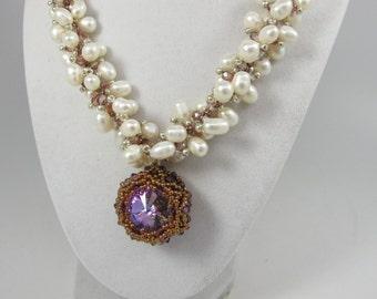 Genuine Baroque  pearl necklace, White baroque pearl, Large baroque necklace, statement baroque necklace, baroque pearl necklace