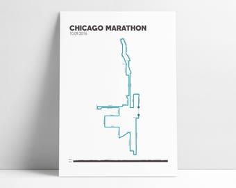 Marathon map Etsy