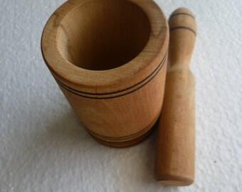 SALE, Vintage style Europe  mortar,  vintage wooden mortar,  turned wood, boho decor, medieval, fantasy,