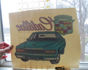 Cadillac,True vintage 1970s or 80s, iron on decal for Tshirt or?