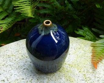 Porcelain indigo bud vase