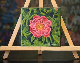 Pink Peony (original oil painting)