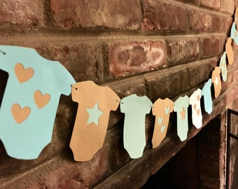 Baby Shower Garland/Banner- Onesie