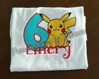 Pokemon birthday shirt