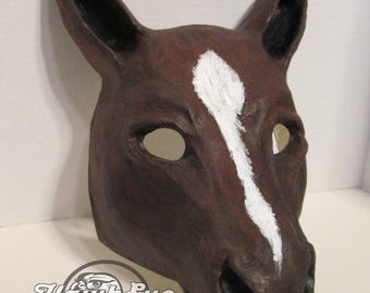 Horse mask, made to order, Horse costume mask, handmade, hand painted, Unicorn Mask, masquerade, custom made horse mask
