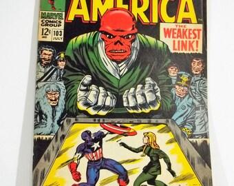 Captain America 103; Marvel Silver Age Comic Book