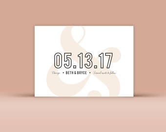 Save the Date No. 6 - Wedding Announcement