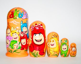 Nesting doll Oddbods for kids signed matryoshka russian dolls