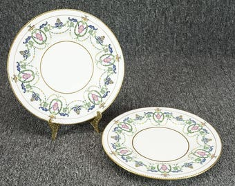 """Pair Of Vintage Mintons England 608547-73793 8 3/4"""" Luncheon Plate C. 1913"""