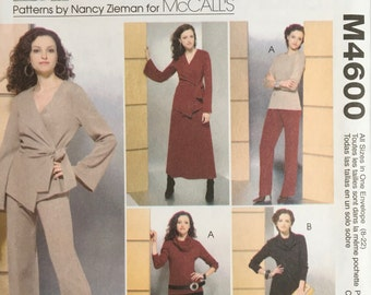 McCalls M4600 Misses Sewing Pattern Easy Knit Wardrobe Sewing With Nancy Size 8 10 12 14 16 18 20 UNCUT 2004