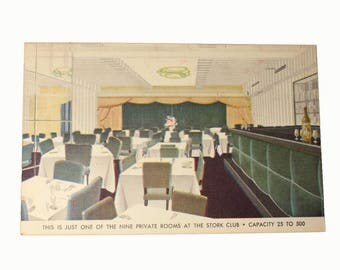 The Stork Club Vintage Postcard