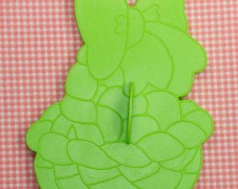 1978 Large Wilton Green Easter Basket Cookie Cutter Hong Kong