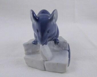 Royal Copenhagen Mouse on Sugar Cubes Miniature Porcelain Figurine  #510