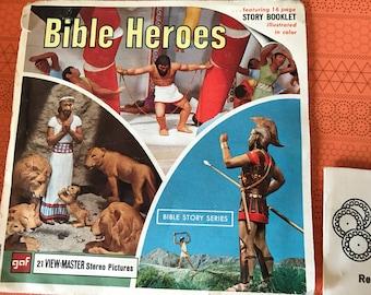 Bible Heroes Viewmaster  Reels View Master Vintage Set of 3 Reels
