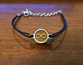 ENDLESS Friendship Bracelet wood math symbol