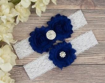 Blue Garter Belt, Royal Blue Garter, Wedding Garter Belt, Something Blue, Garter Set, Royal Blue Wedding Garter, Blue Bridal Garter SCWS-B04