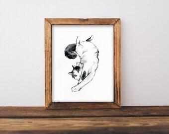 Custom Cat Portrait, Memorial Pet Portrait, Personalized Pet Portrait, Pet Portrait, Pet Painting, Cat Painting, Cat Lover