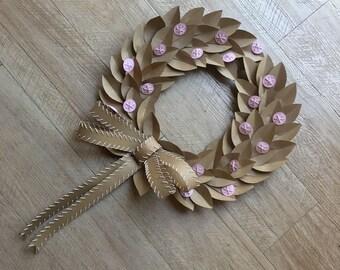 Kraft paper wreath