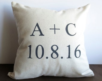 Personalized Wedding Pillow - Name and Date Pillow, Wedding Date, Engagement Date, throw pillow, personalized pillows, wedding date pillow