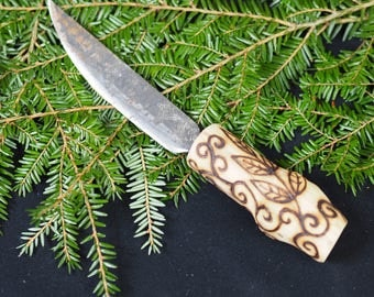 Elder Wood & Upcycled Steel Athame - Ritual Knife - for Pagans, Witches and Wiccans.