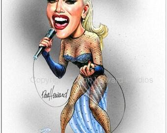 Don Howard's Depiction of Gwen Stefani Celebrity Caricature