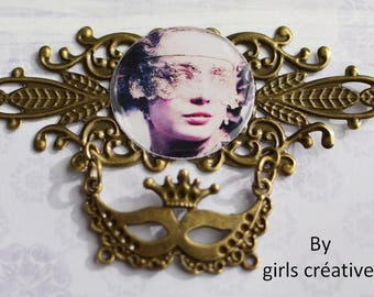 """Original creation """"cosplay"""" for scrapbooking or jewelry 85mm x 54 mm"""