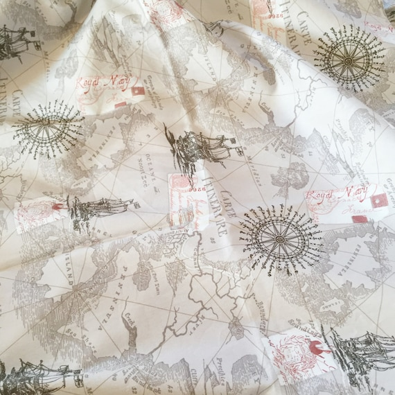 Map fabric by the yard world map fabric vintage map print map fabric by the yard world map fabric vintage map print fabric grey fabric by the yard quilting fabric 100 cotton fabric gumiabroncs Image collections