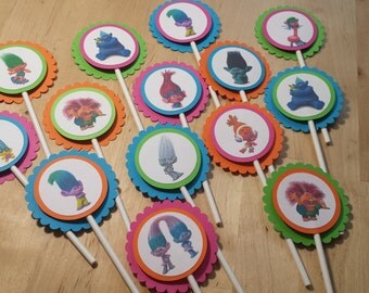 Trolls Cupcake Toppers /set of 24