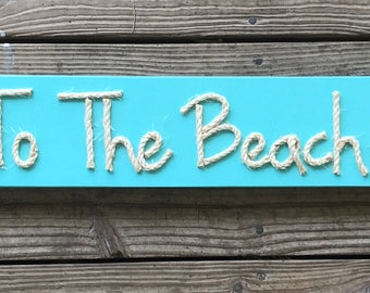 Handmade I Love You To The Beach And Back with Rope Beach Pallet Art