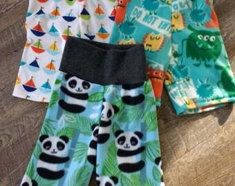 Toddler Baby Kids Fleece Shorts Longies Pants Pajamas Pick Your Print Soft Stretchy 3M 6M 9M 12M 18M 2T 3T 4T 5T 6 8 10 12 - Cloth Diaper