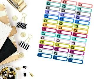 Television Mini Label Stickers! Perfect for your Erin Condren Life Planner, calendar, Paper Plum, Filofax!