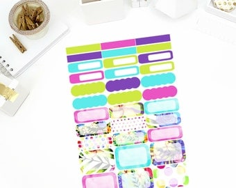 Watercolor Rose Functional Stickers! Perfect for your Erin Condren Life Planner, calendar, Paper Plum, Filofax!