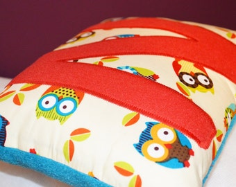 Mini Letter Owl Cushion, Personalised Owl Cushion,  Children's Personalised Cushion, Personalised Nursery Cushion, Kids Cushion, Baby Gifts